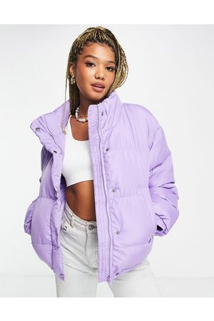 ASOS Oversized recycled puffer jacket in purple