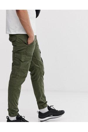 JACK & JONES Intelligence cuffed cargo trouser in green