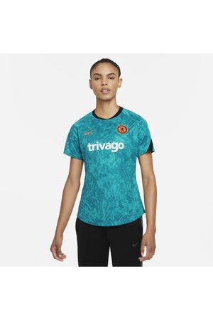 Nike Mulher Camisolas sem capuz - Camisola de futebol do equipamento de aquecimento Dri-FIT Chelsea FC para mulher
