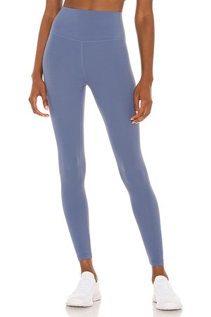 Splits59 Mulher Leggings & Treggings - Airweight High Waist 7/8 Legging in - Blue. Size L (also in S, XS, M).