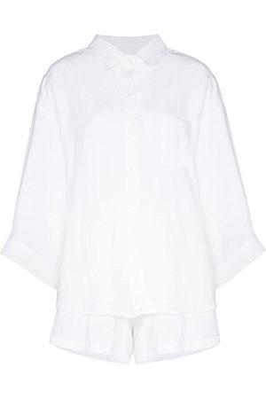 Deiji Studios Button-up two-piece pajama set
