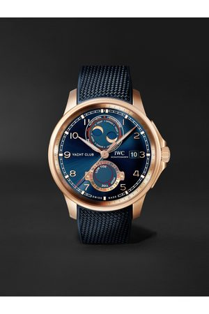 IWC SCHAFFHAUSEN Portugieser Yacht Club Moon & Tide Automatic Chronograph 44.6mm 18-Karat Red Gold and Rubber Watch, Ref. No. IW344001