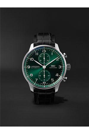 IWC SCHAFFHAUSEN Portugieser Automatic Chronograph 41mm Stainless Steel and Alligator Watch, Ref. No. IW371615