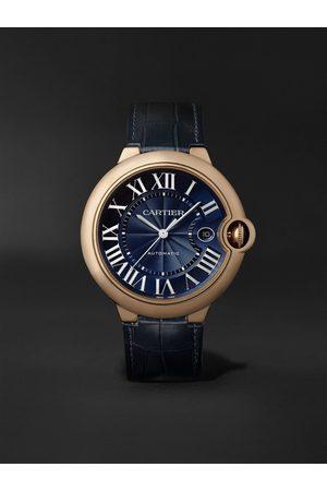 Cartier Ballon Bleu de Automatic 42mm 18-Karat Pink Gold and Alligator Watch, Ref. No. WGBB0036