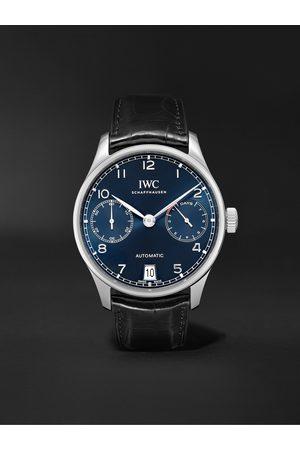IWC SCHAFFHAUSEN Portugieser Automatic 42.3mm Stainless Steel and Alligator Watch, Ref. No. IW500710