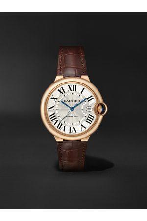 Cartier Homem Relógios - Ballon Bleu de Automatic 40mm 18-Karat Pink Gold and Alligator Watch, Ref. No. WGBB0035