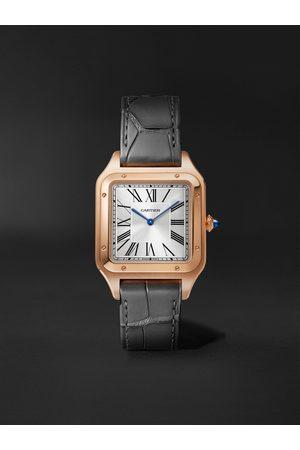 Cartier Homem Relógios - Santos-Dumont 31.4mm Large Steel and Alligator Watch, Ref. No. WSSA0022