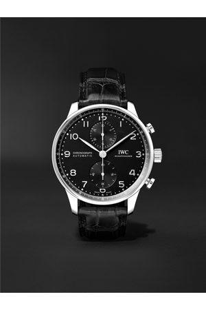 IWC SCHAFFHAUSEN Homem Relógios - Portugieser Automatic Chronograph 41mm Stainless Steel and Alligator Watch, Ref. No. IW371609