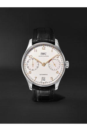 IWC SCHAFFHAUSEN Homem Relógios - Portugieser Automatic 42mm Stainless Steel and Alligator Watch, Ref. No. IW500704