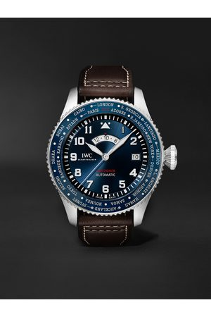 IWC SCHAFFHAUSEN Homem Relógios - Pilot's Watch Timezoner Le Petit Prince Limited Edition Automatic 46mm Stainless Steel and Leather Watch, Ref. No. IW395503