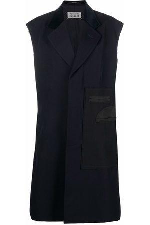 Maison Margiela Sleeveless raw-cut coat