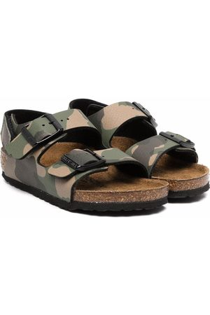 Birkenstock Menino Sandálias - Camouflage-print sandals