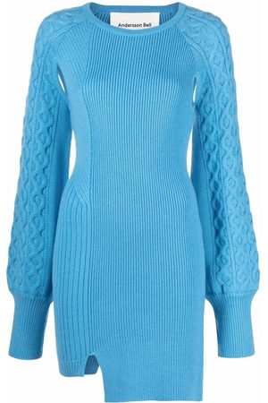 Andersson Bell Cable-knit cut-out knitted dress