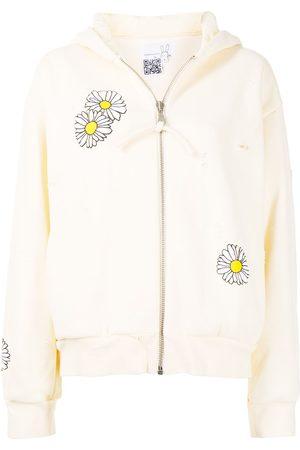 Natasha Zinko Mulher Tops de Cavas - Ditsy-print zip-up hoodie