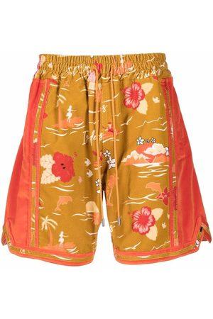 JUST DON Hawaiian-print shorts