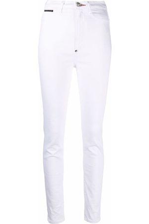 Philipp Plein Mulher Cintura Subida - High-waist jegging jeans