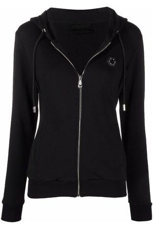 Philipp Plein Mulher Tops de Cavas - Logo-patch zip-up hoodie