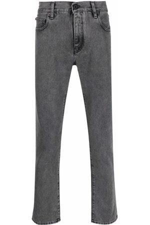 OFF-WHITE Diag-stripe print slim-fit jeans