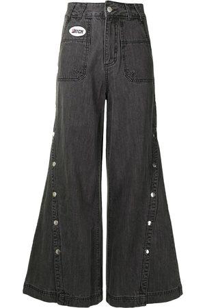 Ground Zero Button-leg flared jeans