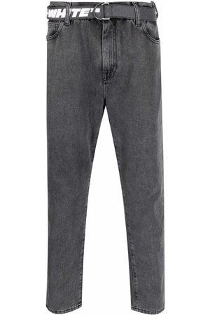 OFF-WHITE Homem Retos - Belted straight-leg jeans