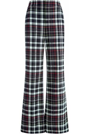 ALICE+OLIVIA Dylan wide plaid leg trousers