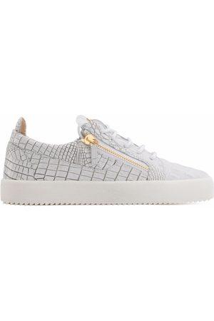 Giuseppe Zanotti Frankie textured zip-detail sneakers