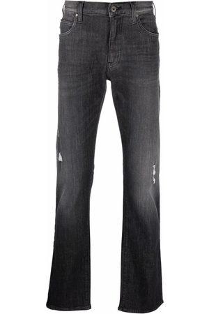 Emporio Armani Logo-plaque jeans