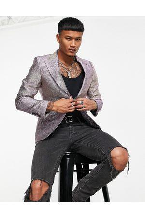 Twisted Tailor Homem Blazers - Blazer in champagne glitter-Multi