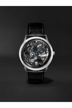 Hermès Slim d'Hermès Squelette Lune 39.5mm Automatic Titanium and Alligator Watch, Ref. No. 053606WW00