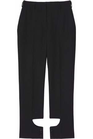 Burberry Mulher Calças Formal - Cut-out detail tailored trousers