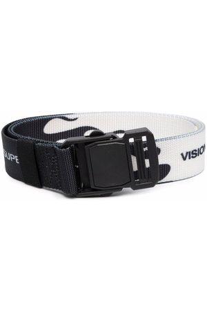 Vision Of Super Flame-print buckled belt