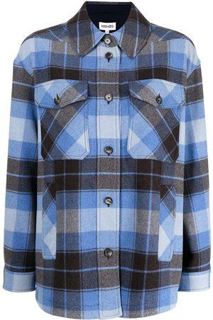 Kenzo Plaid print shirt