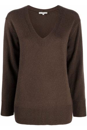 Vince Mulher Tops de Cavas - V-neck cashmere-knit top