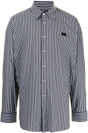 ZZERO BY SONGZIO Striped oversized Panther shirt