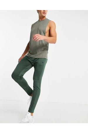 Threadbare Fitness Homem Joggers - Threadbare Active super skinny training joggers in khaki-Green