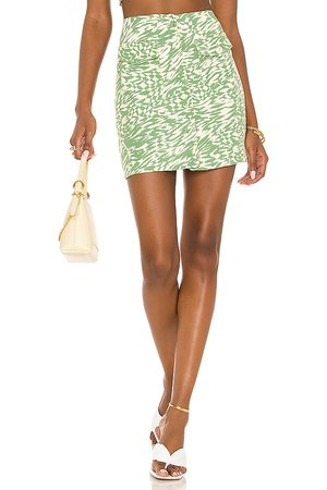 Song of Style Gala Mini Skirt in - Green. Size L (also in XXS, XS, S, M, XL).