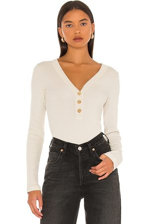 Citizens of Humanity Scarlett Rib Henley in - Neutral. Size L (also in XS, S, M).