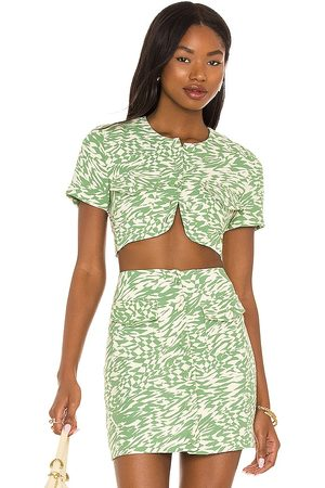 Song of Style Gala Top in - Green. Size L (also in XS, S, M, XL).