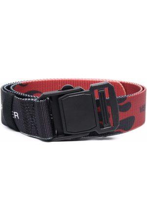 Vision Of Super Menino Cintos - Flame-print buckle belt