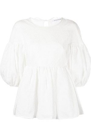 Cecilie Bahnsen Jerry puff-sleeve flared blouse