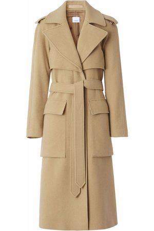 Burberry Mulher Gabardinas - Mid-length belted trench coat
