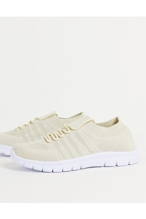 French Connection Homem Meias - Sock knitted trainer in beige-Neutral