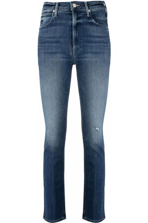 Mother High-rise slim-cut jeans