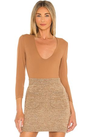 Free People Close Call Duo Bodysuit in - Brown. Size M (also in S).