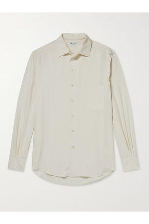 Loro Piana Homem Casual - Andre Garment-Dyed Silk Shirt
