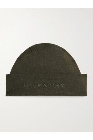 Givenchy Homem Chapéus - Logo-Embroidered Wool Beanie