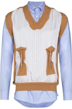 Maison Margiela Homem Formal - Deconstructed layered shirt