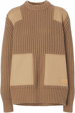 Burberry Mulher Camisolas - Contrast-panel jumper