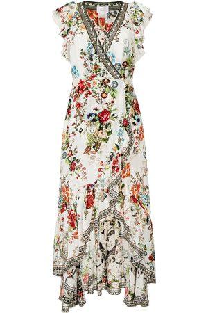 Camilla Shakespeares Garden-print wrap dress