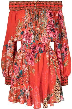 Camilla Floral print off shoulder dress